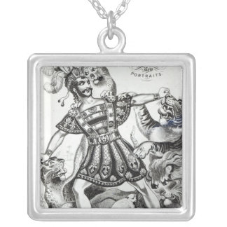 Van Amburgh the Brute Tamer, 1838 Silver Plated Necklace