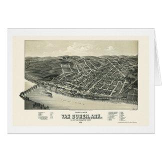 Van Buren, AR Panoramic Map - 1888 Card