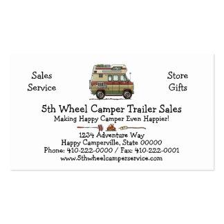 Van Camper Trailer Pack Of Standard Business Cards