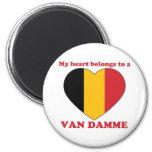 Van Damme Refrigerator Magnet