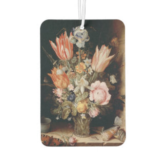 Van den Berghe's Flowers art air freshner Car Air Freshener