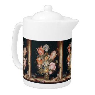Van den Berghe's Flowers art teapot