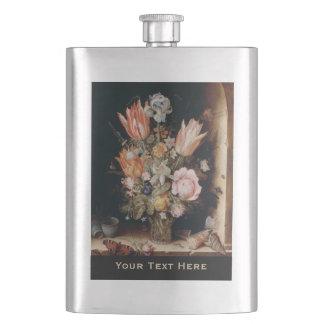 Van den Berghe's Flowers custom flask