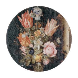 Van den Berghe's Flowers cutting board