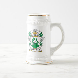 Van Den Brink Family Crest Beer Stein