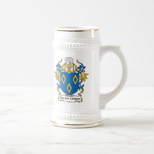 Van der Linden Family Crest 18 Oz Beer Stein