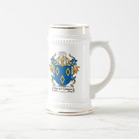 Van der Linden Family Crest Beer Stein