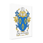 Van der Linden Family Crest Gallery Wrapped Canvas