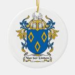 Van der Linden Family Crest Ornaments