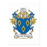 Van der Linden Family Crest Postcard