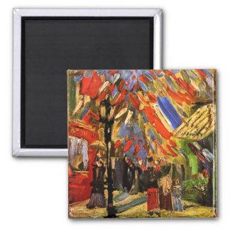 Van Gogh 14th Of July Celebration In Paris Magnet