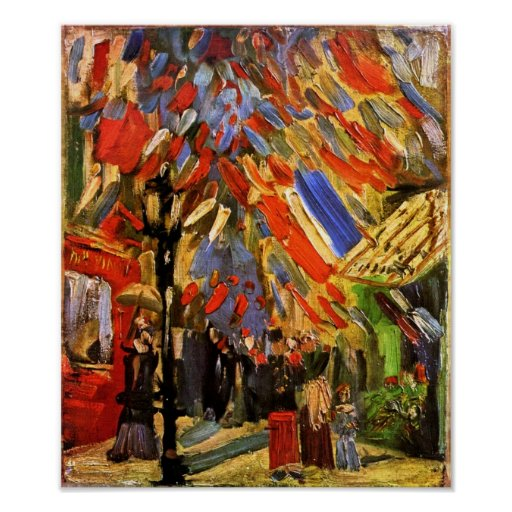 Van Gogh 14th Of July Celebration In Paris Poster