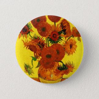 Van Gogh 15 Sunflowers 6 Cm Round Badge