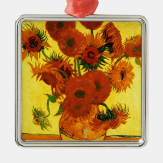 Van Gogh 15 Sunflowers Christmas Ornament