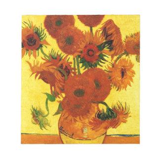 Van Gogh 15 Sunflowers Notepad