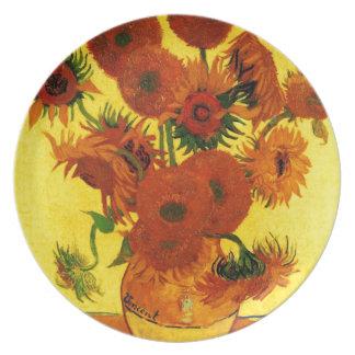 Van Gogh 15 Sunflowers Plate