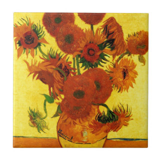 Van Gogh 15 Sunflowers Tile