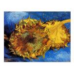 Van Gogh 2 Cut Sunflowers Fine Post-Impressionism Postcard