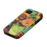 Van Gogh; 3 Sunflowers in a Vase, Vintage Flowers