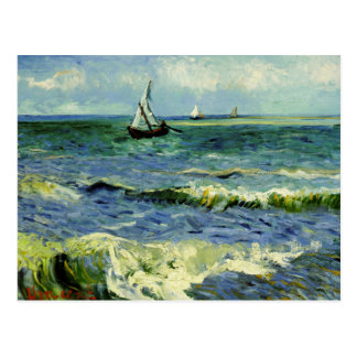 Van Gogh - A Fishing Boat at Sea Postcard