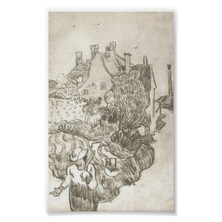 Van Gogh - A House at Auvers Poster