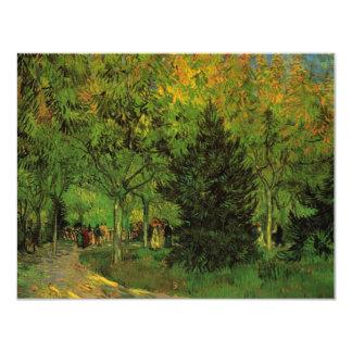 Van Gogh A Lane in the Public Garden at Arles 11 Cm X 14 Cm Invitation Card