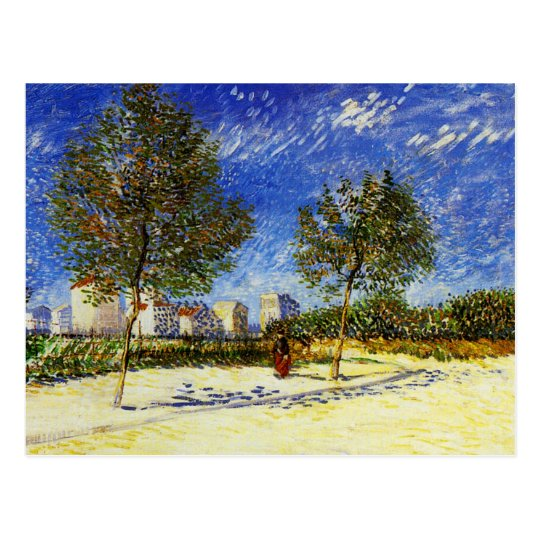 Van Gogh - A Suburb of Paris Postcard