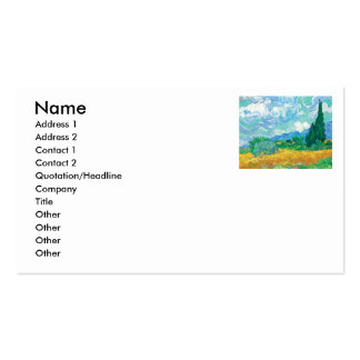 Van Gogh  A Wheatfield with Cypresses Business Cards