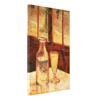 Van Gogh Absinthe Vintage Impressionism Still Life Gallery Wrapped Canvas