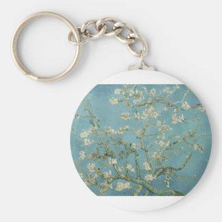 Van Gogh Almond Blossom Basic Round Button Key Ring