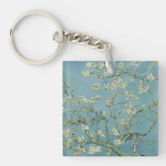 Van Gogh Almond blossom Double-Sided Square Acrylic Key Ring