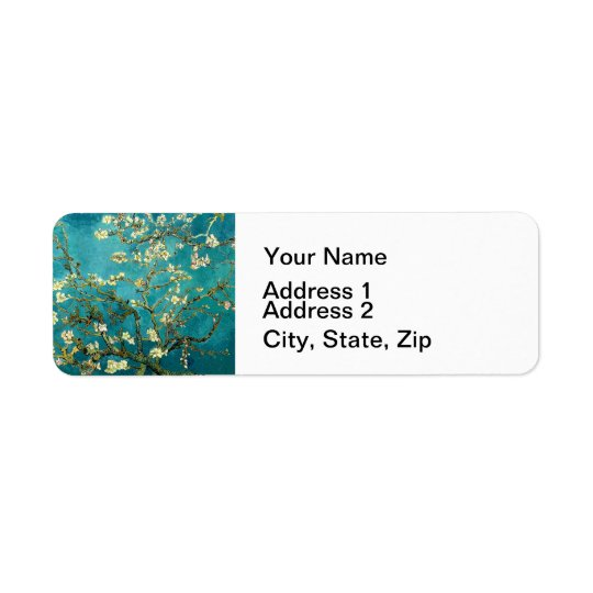 Van Gogh Almond Blossoms Tree Return Address Label