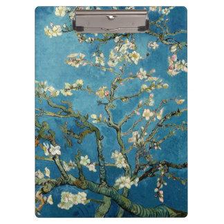 Van Gogh Almond Blossoms Vintage Floral Blue Clipboard