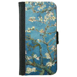 Van Gogh Almond Blossoms Vintage Floral Blue iPhone 6 Wallet Case