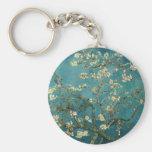 Van Gogh Almond Branches In Bloom Basic Round Button Key Ring