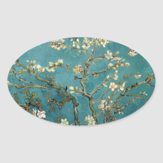 Van Gogh Almond Branches In Bloom Oval Sticker