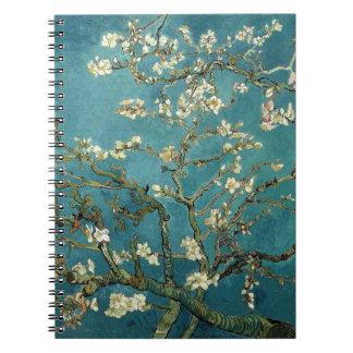 Van Gogh Almond Branches In Bloom Spiral Note Books