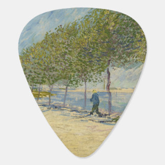 Van Gogh Along the Seine river Paris Guitar Pick
