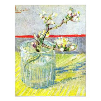 Van Gogh Art, Blossoming Almond Branch in a Glass 11 Cm X 14 Cm Invitation Card