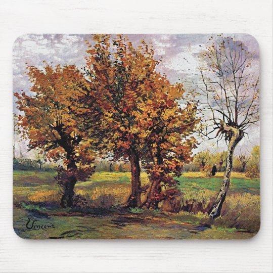 Van Gogh - Autumn Landscape With Four Trees Mouse Mat
