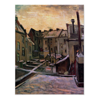 Van Gogh - Backyards Of Old Houses Poster