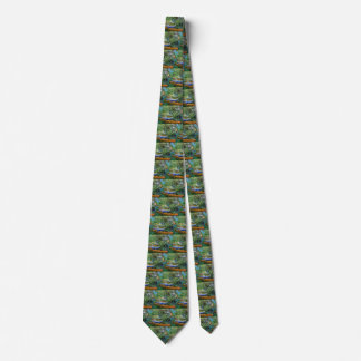 Van Gogh Bank of Oise at Auvers, Vintage Fine Art Tie