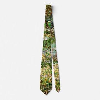 Van Gogh Banks of Seine Pont de Clichy in Spring Tie