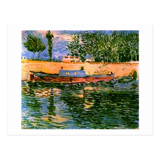Van Gogh Banks of the Seine with Boats (F353) Postcards