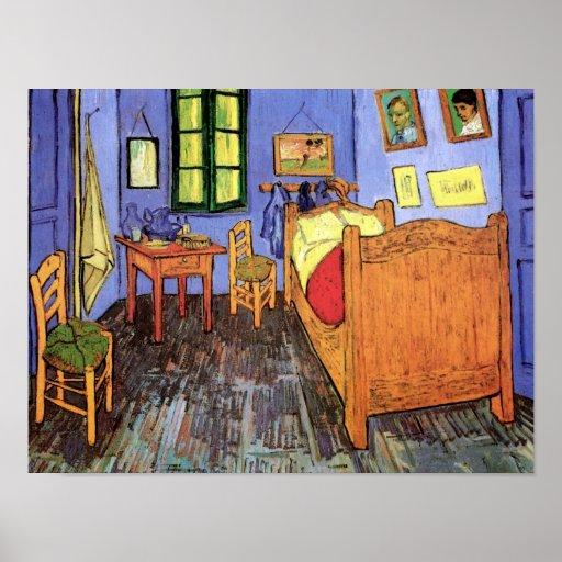Van gogh bedroom in arles poster zazzle for Bedroom in arles