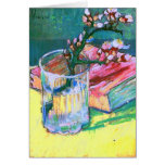 Van Gogh Blossoming Almond Branch Glass Book(F393) Greeting Card