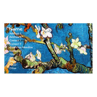 Van Gogh Blossoming Almond Tree (F671) Fine Art Business Card Templates