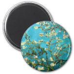 Van Gogh Blossoming Almond Tree Fine Art 6 Cm Round Magnet