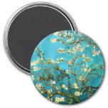 Van Gogh Blossoming Almond Tree Fine Art 7.5 Cm Round Magnet