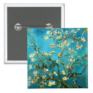 Van Gogh Blossoming Almond Tree Fine Art 15 Cm Square Badge